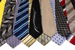 Collection of men's ties 5 royalty free stock photos