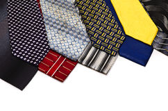 Collection of men's ties 7 Royalty Free Stock Photos