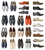 Collection of men shoes royalty free stock photo