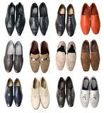 Collection of men shoes Stock Photography