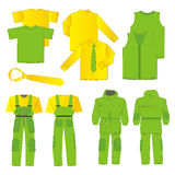 Collection of men work clothes Royalty Free Stock Photo