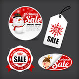 015 Collection of merry christmas banner promotion sale discount Royalty Free Stock Photos