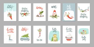 Collection of Merry Christmas stock illustration