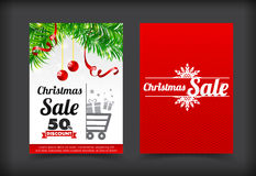 013 Collection of merry christmas coupon card banner promotion s. Collection of merry christmas coupon card banner promotion sale discount style vector Royalty Free Stock Photos