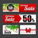 019 Collection of merry christmas sale tag banner promotion sale Royalty Free Stock Photos