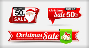 025 Collection of Merry Christmas sale web tag banner promotion. Sale discount style vector illustration eps10 Stock Photo