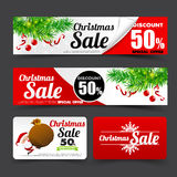 012 Collection of merry christmas santa tag banner promotion sal Royalty Free Stock Image