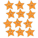 Collection of merry stars Royalty Free Stock Images