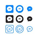 Messenger social media icons stock illustration