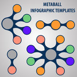 Collection of metaball infographic template Royalty Free Stock Images