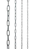 Collection of metal chains Royalty Free Stock Image
