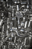 Collection of metal containers Stock Images