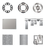 Collection of metal elements Stock Photo