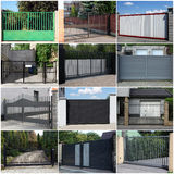 Collection of metal gates. Collection of eight metal gates Stock Images