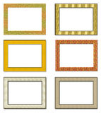 Collection metal photo frameworks Royalty Free Stock Photos