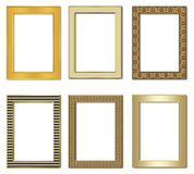 Collection metal photo frameworks 2. Royalty Free Stock Photography