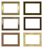 Collection of metal photos of frameworks. Stock Photo