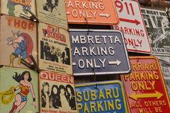 Collection of metal signs Royalty Free Stock Photography