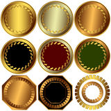 Collection  metallic awards (vector) Royalty Free Stock Image