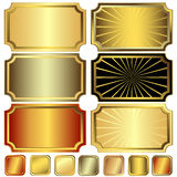 Collection Metallic Frames Royalty Free Stock Photo