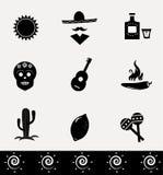 Collection mexicaine d'icônes Image libre de droits