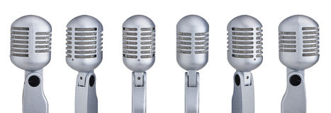 Collection of microphones Stock Photos