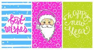 Collection mignonne avec des cartes de la bonne année 2017 Images stock
