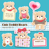 Collection mignonne d'ours de nounours Photo stock