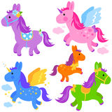 Collection mignonne de poney Image libre de droits