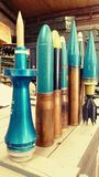 Collection of military shells Stock Image