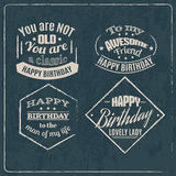 Collection of minimalistic birthday quote typographical background . vector illustration