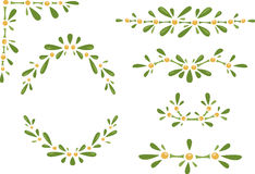 Collection of mistletoe frames Royalty Free Stock Image