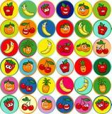 Collection of mixed fruit Stock Photos