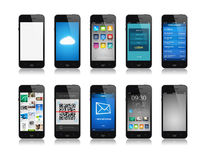 Smartphone collection Stock Image