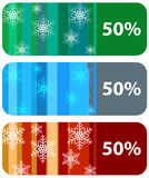 Collection of modern abstract winter sale tags Royalty Free Stock Photos