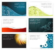 Collection of modern business card templates. Set of 6 modern business card templates Royalty Free Stock Photography