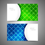 Collection  of modern business card templates Royalty Free Stock Images