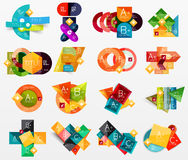 Collection of modern business infographic Royalty Free Stock Photography