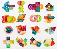 Collection of modern business infographic Royalty Free Stock Photos