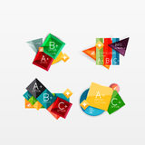 Collection of modern business infographic. Templates made of abstract geometric shapes. Option banners set Stock Images