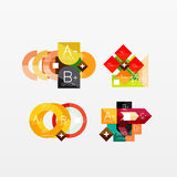 Collection of modern business infographic Royalty Free Stock Photo