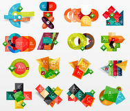 Collection of modern business infographic Stock Photo