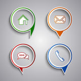 Collection modern colored web design icons Stock Images