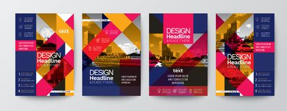 Collection of modern design poster flyer brochure cover layout t royalty free illustration