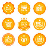 Collection of modern, flat design styled labels and design elements. Vector Royalty Free Stock Image