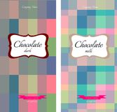 Collection of modern geometric chocolate packaging Stock Photography