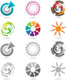 Collection of modern icons. A set of modern and futuristic icons with full color and grayscale versions Royalty Free Stock Photos