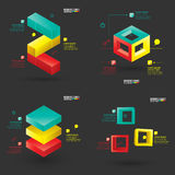 Collection of modern infographics template Stock Images