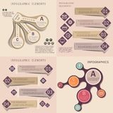 Collection of modern origami style infographic banners Royalty Free Stock Photos