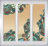 Collection of modern ornamental banners template Royalty Free Stock Photo